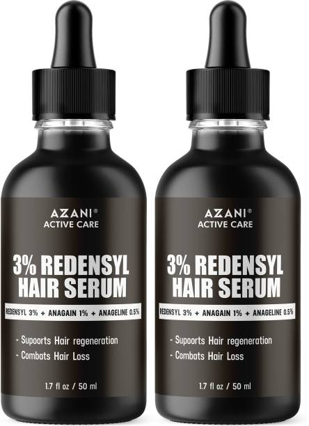 Azani Active Care 3% Redensyl Hair Regrowth Serum for Hair regrowth, Promotes Dense & Strong Hair|Hair loss reduction Serum