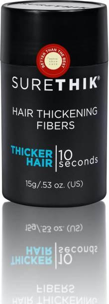 Surethik Hair Thickening Fibers 15g Black Hair Volumizer Hair Building Fibers
