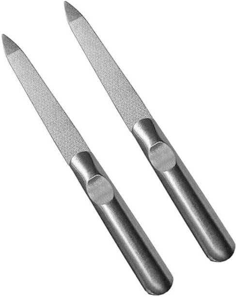 Metis Pack 2 Catwings Stainless Silver Steel Nail Filers (5 Inches)