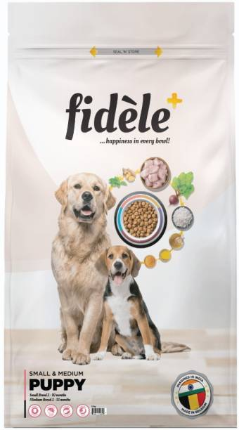 FIDELE + Small & Medium Puppy Chicken 12 kg Dry Young Dog Food