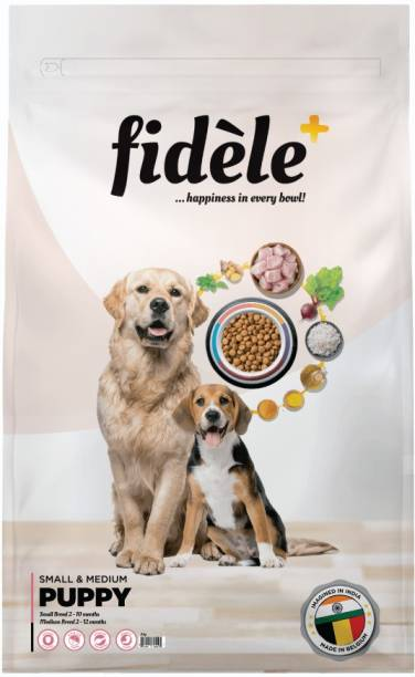 FIDELE + Small & Medium Puppy Chicken 3 kg Dry Young Dog Food