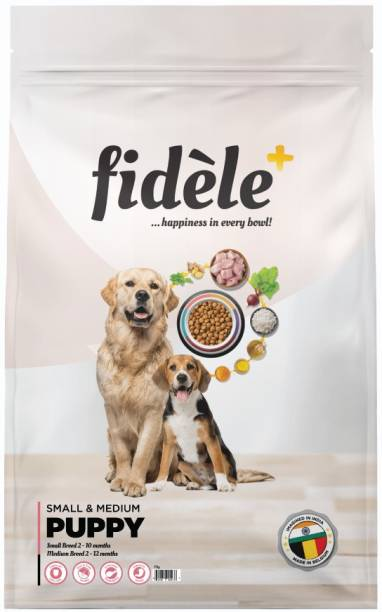 FIDELE + Small & Medium Puppy Chicken 1 kg Dry Young Dog Food