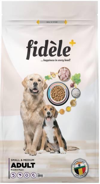 FIDELE + Adult Small & Medium Chicken 12 kg Dry Adult Dog Food