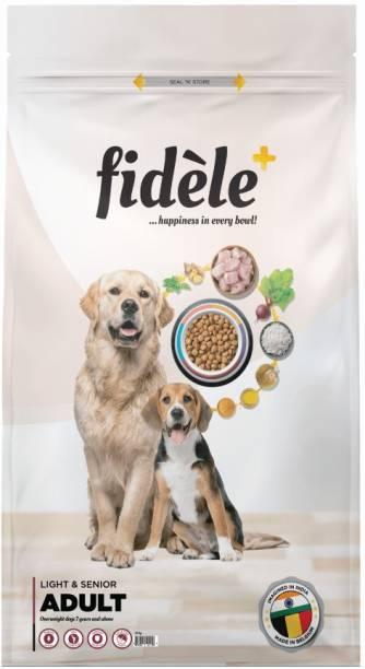 FIDELE + Adult Light & Senior Chicken 12 kg Dry Senior Dog Food