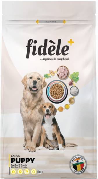 FIDELE + Large Puppy Chicken 12 kg Dry Young Dog Food