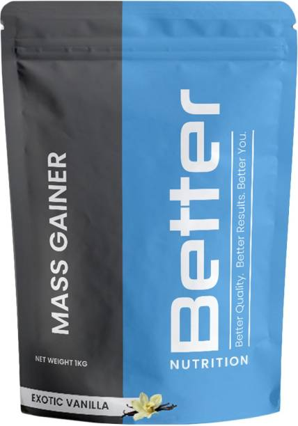 Better Nutrition Mass Gainer for muscle building and recovery | 65g Carbs | 20g Serving Weight Gainers/Mass Gainers