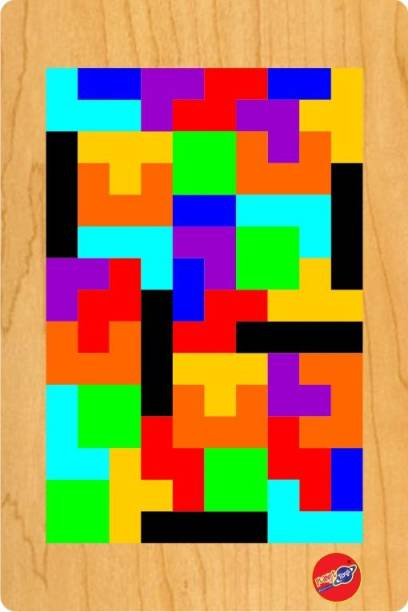 Planet of Toys Wooden Jigsaw Puzzle Tetris (40 Pieces) Tangram Brain Teaser Puzzle for Girls and Boys