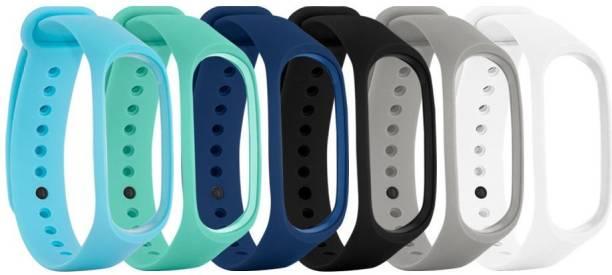 Jape Silicon Adjustable Belt/ Band Watch Strap Mi3,Mi4 Bracelet Smart Band Strap (Mullti Color) ( Combo Pack of 06 Strap) Smart Band Strap