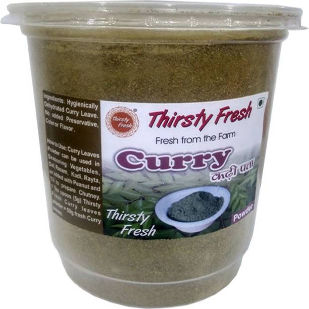 Thirsty Fresh Curry Leaves Powder – Dehydrated Ready To Use For Kitchen