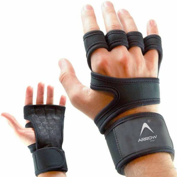 ArrowMax GYM GLOVES WITH WRIST SUPPORT FOR MEN WOMEN WEIGHT LIFTING COMBO Gym & Fitness Gloves