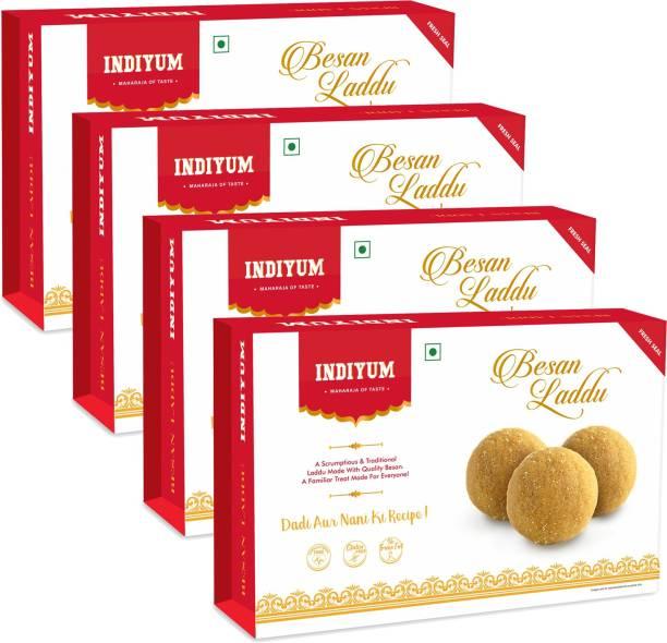Indiyum Indian Sweets Mithai Besan Laddo Box