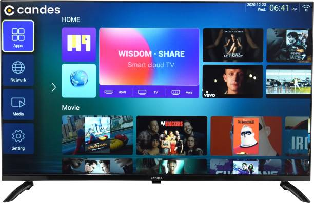 Candes 108 cm (43 inch) Ultra HD (4K) LED Smart Android TV