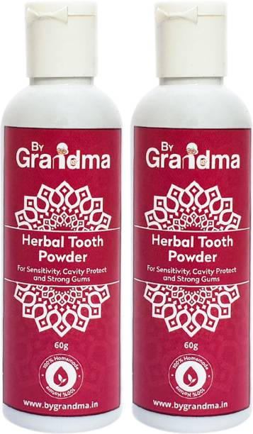 By Grandma Sensitivity Relief And Herbal Tooth Powder | 100% Natural & Homemade - 120 Gm | Helps In Bad Breath, Sensitivity Problem, Tooth Decay