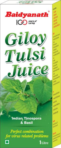 Baidyanath Giloy Tulsi Juice - Helps Boost Immunity - 1L
