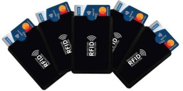 RFID Black Aluminium Foil Card Sleeves Access Control