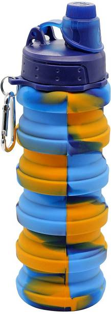 Happysome Collapsible Sports Gym Water bottle Sipper Multicolor 500 ml Sipper