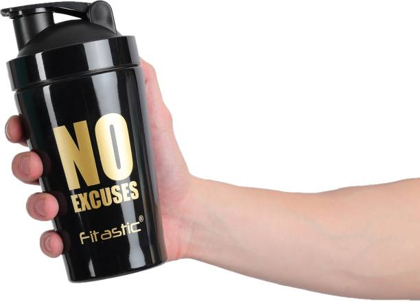 Fitastic Stainless steel Shaker Bottle With Steel Mixing Ball(NO Excuses) 500 ml Shaker