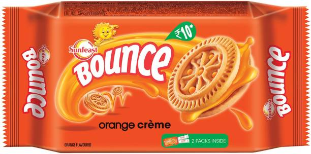 Sunfeast Bounce Tangy Orange Biscuit Cream Filled