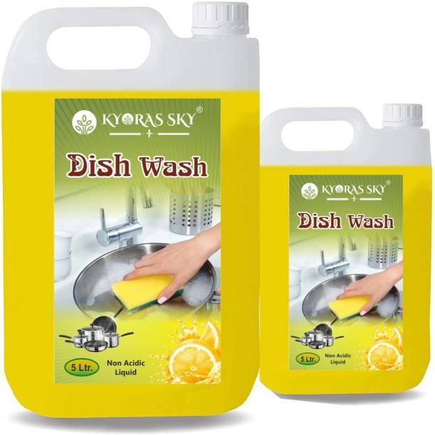 KYORAS SKY Dish Washing Gel For Removing Stain, oil ,Grease and Bacteria.(lemon 6L ) Dishwash Bar (6 kg) Dishwash Bar Dishwash Bar