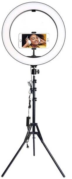 Wrapo Selfie Ring Light Tripod Kit, Phone Holder, Aluminum Stand Extends to , USB Powered, Compatible with iPhone & Android, 3 Color Modes, Video, Photos, Makeup, TikTok Ring Flash