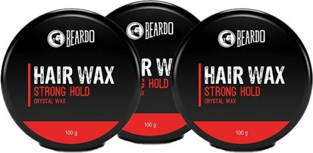 BEARDO Hair Wax Strong Hold Crystal Gel Wax 100g_Pack of 3 Hair Wax