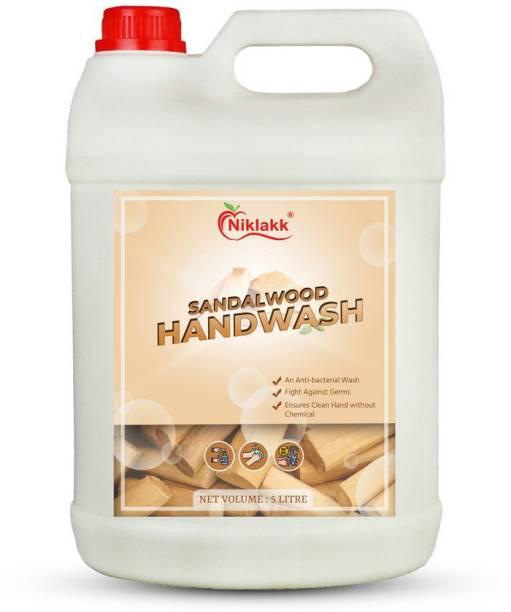 Niklakk SANDALWOOD HANDWASH LIQUID 5 LITER Hand Wash Can Hand Wash Can