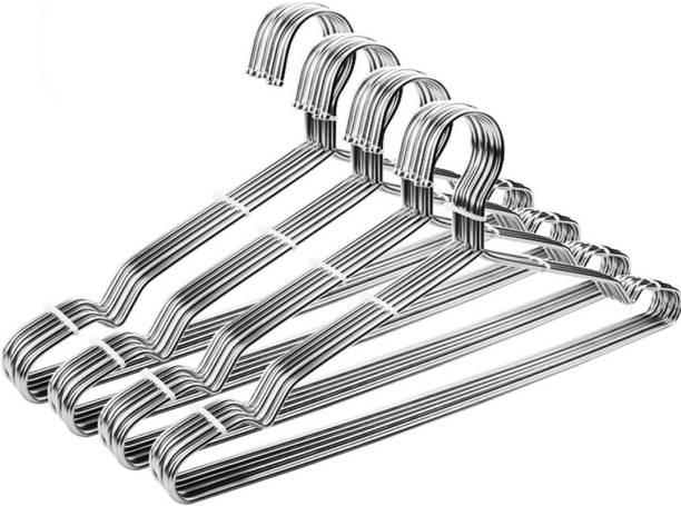 Mahek Strong & Durable Steel Cloth Hangers|Hangers for wardrobe (pack of 20) Steel Pack of 20 Hangers