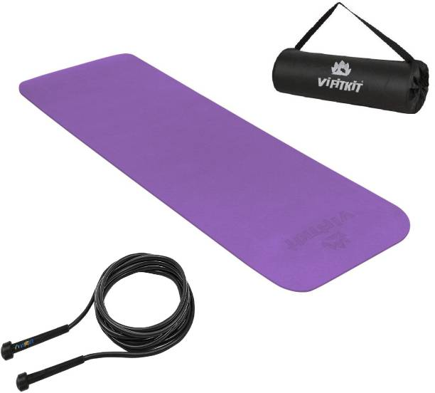 Yogarise Yoga Mat with Free Jump Rope, Bag & Strap for Gym & Outdoor Workout for men & women Gym & Fitness Kit Gym & Fitness Kit