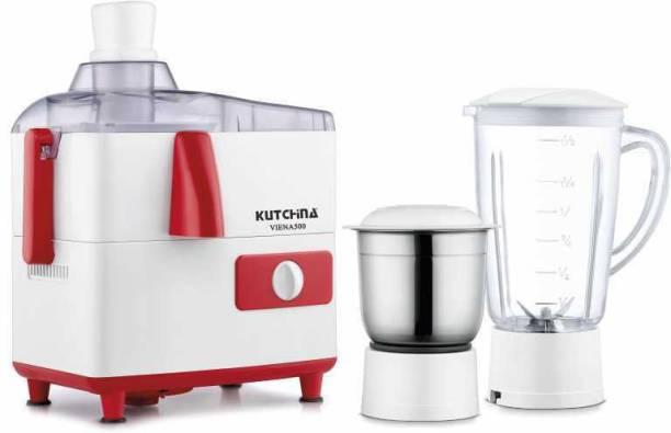 Kutchina Viena 500 500 Juicer Mixer Grinder (3 Jars, White, Red)