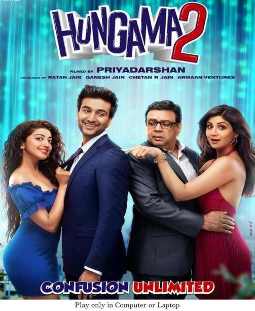 Hungama 2 (2021) it's burn data DVD play only in computer or laptop not in DVD or CD player it's not original without poster