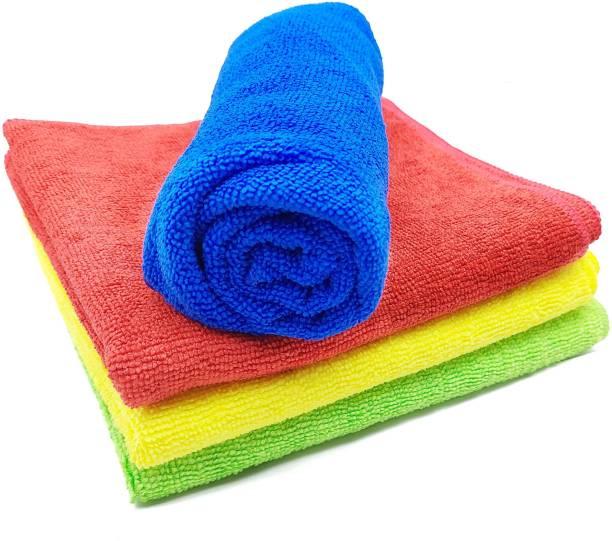 Trosskart Microfiber Cloth (Pack of 4 Pcs.) Multicolor Napkins