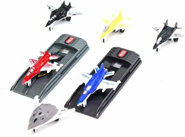 ARONET Avengers Marvel Fighter Battle Planes (multicolor) aero planes with launchers Toy Set for Kids (Pack of 8 pcs)