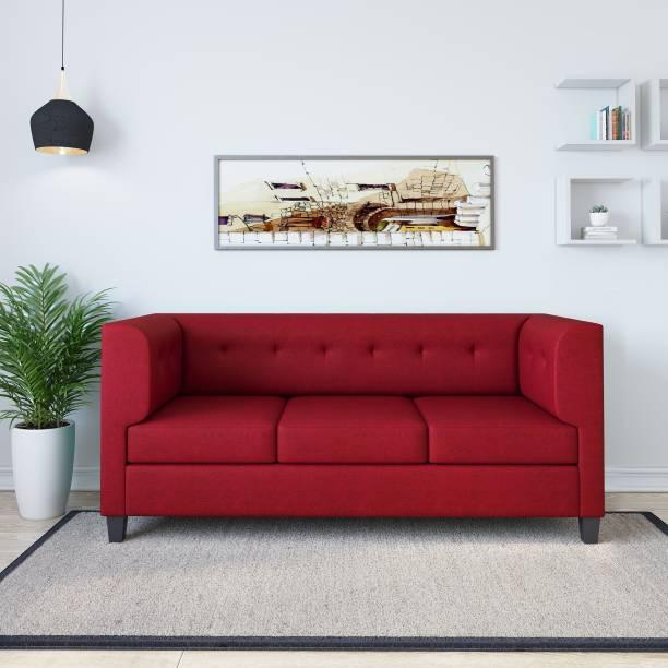 Flipkart Perfect Homes Benny Fabric 3 Seater  Sofa