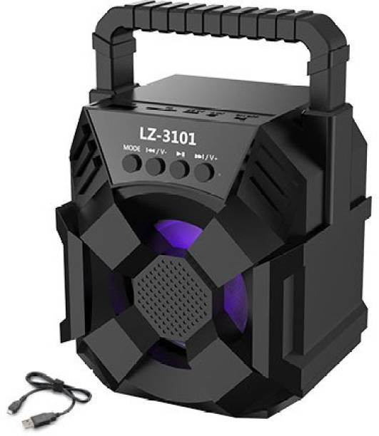 TECHOMANIA TOP BRAND LZ-3101 BO.SE |Extra Baas Stereo 3D sound Trolley Mutimidia Splashproof| Water resistant|Led Colour Changing Lights | mini Home theatre|AUX supported| wireless Speaker| Long hour battery Life 10 W Bluetooth Speaker