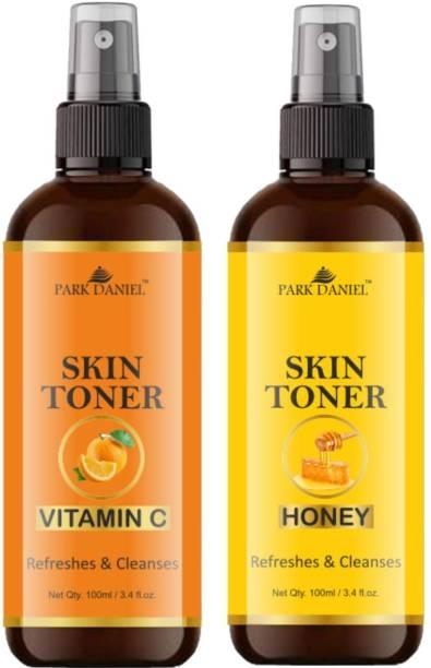 Park Daniel Natural Vitamin C & Honey Skin Toner Combo Pack Of 2 Bottles Of 100ml (200ml) Makeup Remover