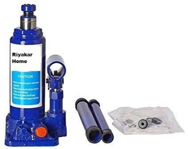 Riyakar Home Super Premium Heavy Car Hydraulic Jack for All Cars (Universal) (Blue) JHF-792 Vehicle Jack Stand