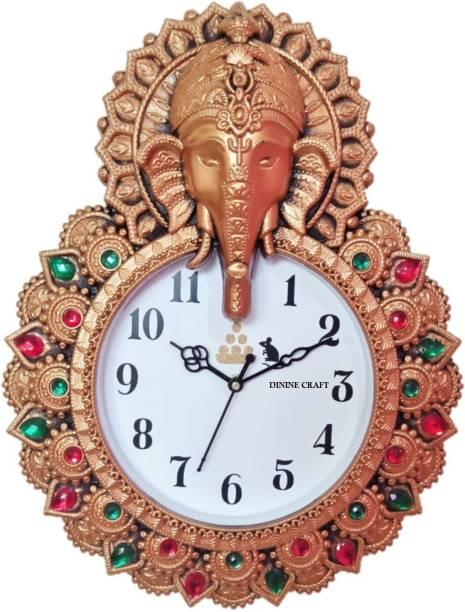 Dinine Craft Analog 30 cm X 38 cm Wall Clock