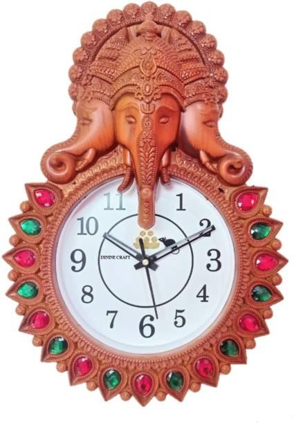 Dinine Craft Analog 25 cm X 35 cm Wall Clock