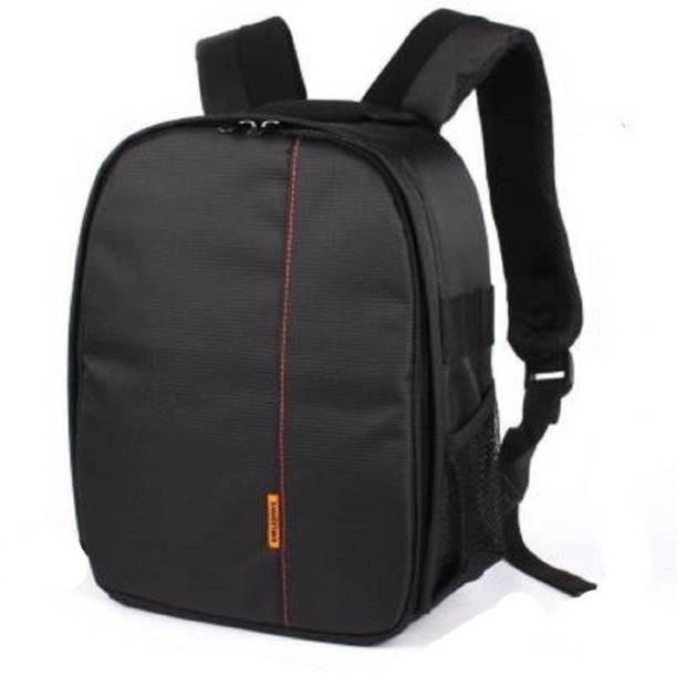 ALFASIYA Universal Lightweight DSLR Camera Lens Bag Camera Bag (Black, Orange)  Camera Bag