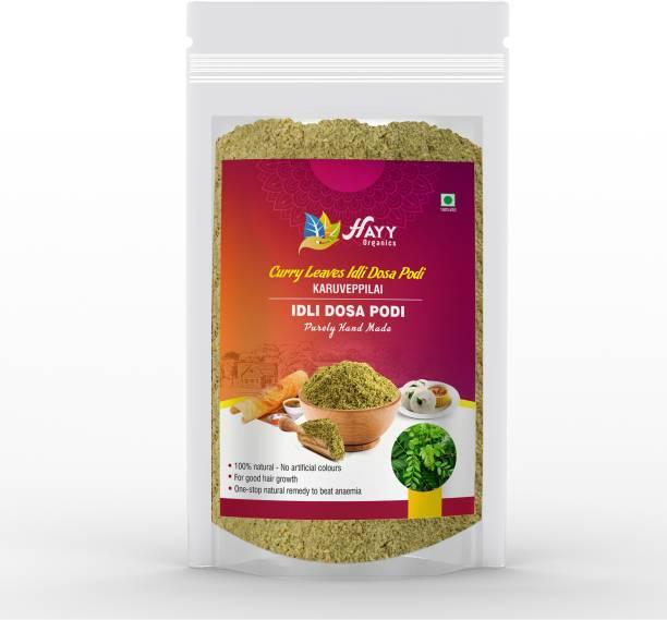 HAYYFOODS Curry Leaves/ Karuveppillai Idli Dosa Powder - Fresh and Pure (Milagai Podi/ Chutney Powder) - For Strong Bouncy Hair - 250g - pack of 1 Chutney Powder