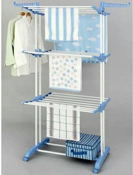 TNC by TNC Steel, Plastic, Aluminium Wall Cloth Dryer Stand T-CDS-3TIER-B2SS-0218
