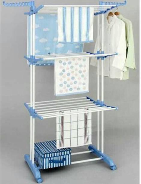 TNC by TNC Steel, Plastic, Aluminium Ceiling Cloth Dryer Stand T-CDS-3TIER-B2SS-0221
