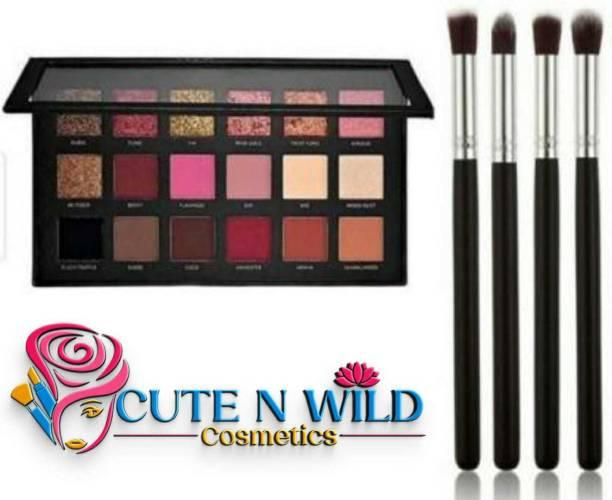 cute n wild rosegold beauty Eye shadow + Eyeshadow blending Pencil Brush