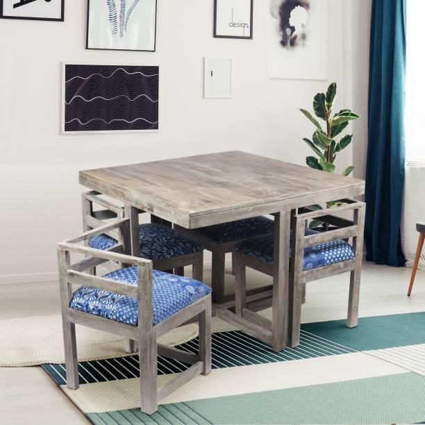 Ikiriya Solid Wood 4 Seater Dining Set