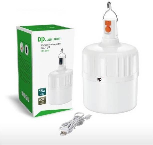 DP.LED DPM DP-7812 HIGH LIGTING LIGHTS (3 KINDS OF BRIGHTNESS ) Portable Rechargeable LED Ligh BULB(18W) WIDE RANGR LUMINESCENCE POWER DISPLAY Battery Capacity: 2000mAh Bulb Emergency Light