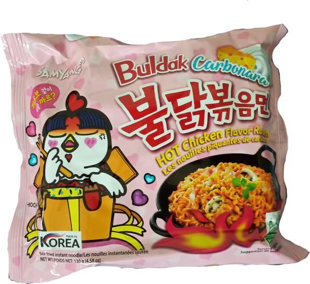 Samyang Hot Chicken Ramen Carbo Noodles-130 g Instant Noodles Non-vegetarian