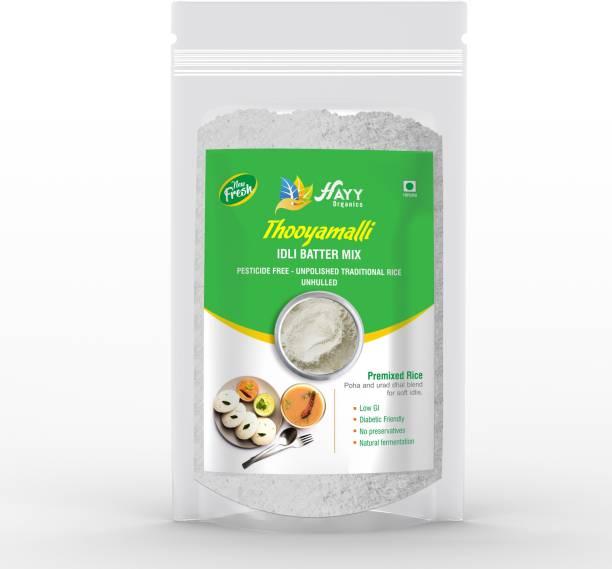 HAYYFOODS Thooyamalli Idli Batter Ready mix (Breakfast Mix) (Gluten Free) (500g) 500 ml