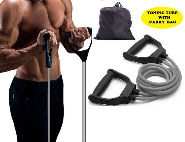 BDMP Unbreakable Adjustable Double Resistance Band With Carry Bag Resistance Band