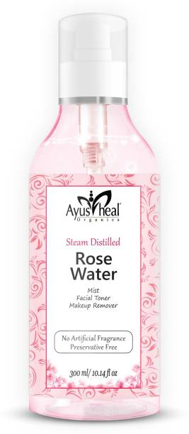 Ayusheal Rose Water 100% Pure and Facial Toner   Makeup Setting   Hydrating Spray Mist 100% Natural Anti-Aging Rosewater Men & Women