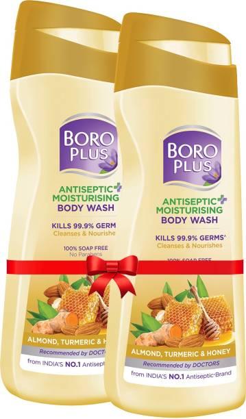 BOROPLUS Antiseptic + Moisturising Body Wash (Almond, Turmeric & Honey)